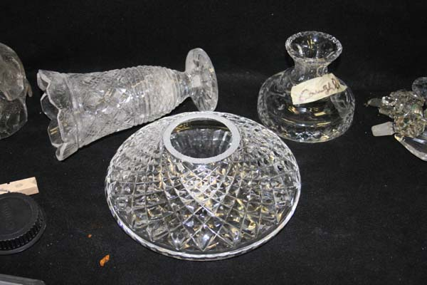 Waterford parts broken decanter and lamp top